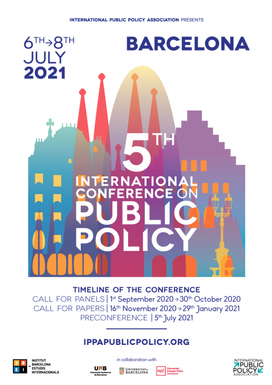 Ippa International Conference On Public Policy 5 Barcelona 2021